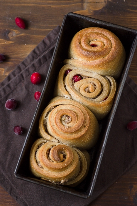 nut and cranberry rolls